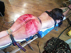 Extreme whipping of slave