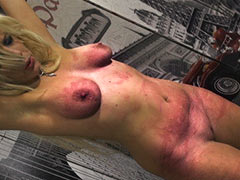 Severe punishment of blonde submissive