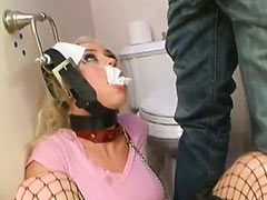 Humiliated toilet slave