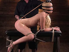 Cute blond tortured