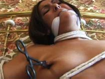 Bed tied girl