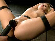Blonde fucked far bondage