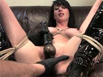 Daniela on bondage casting