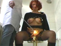 Sparkler in the pussy
