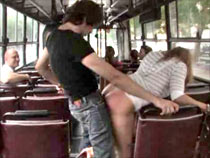 Fucking on a public bus