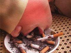 Sub eats cigarette butts