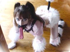 Cute puppy girl