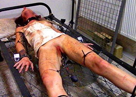 Inhuman torture of slave with cruel humiliation and disgrace