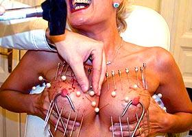 Sadomaso torture of professional masochist woman