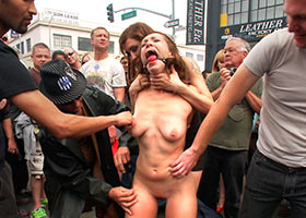 Group torture of girl just on the street