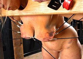 Brutal gang bang of masochist woman loving pain