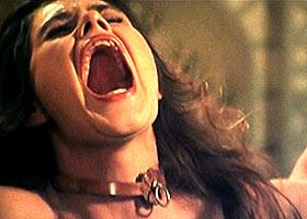 Agony of tortured medieval slave girl