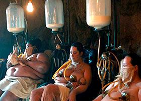 Milking of women in the San Francisco Milking Fetish Club