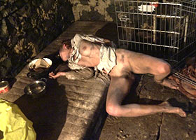 Real slave living in the basement for five years