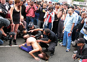 Public disgrace and group fucking by everyone who wants